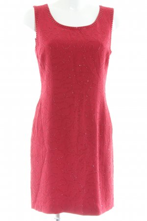 Laurèl Trägerkleid rot abstraktes Muster Elegant