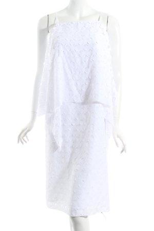 Laurèl Pinafore dress white beach look