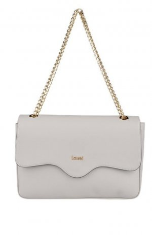 Laurèl Handbag silver-colored-light grey leather