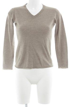 Laurèl V-Ausschnitt-Pullover hellbraun Casual-Look