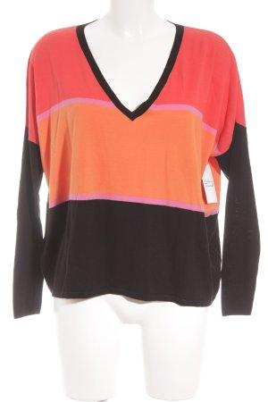 Laurèl V-Ausschnitt-Pullover Streifenmuster klassischer Stil