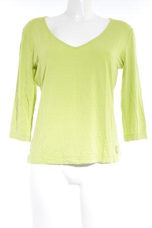 Laurèl V-Ausschnitt-Pullover wiesengrün Casual-Look