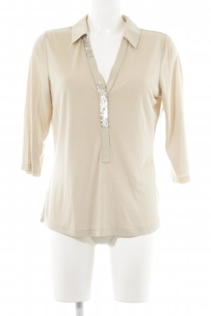Laurèl V-Neck Shirt oatmeal casual look