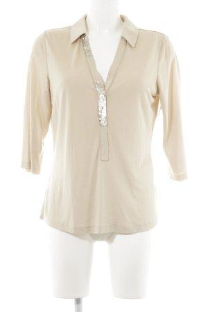 Laurèl V-Ausschnitt-Shirt hellbeige Casual-Look