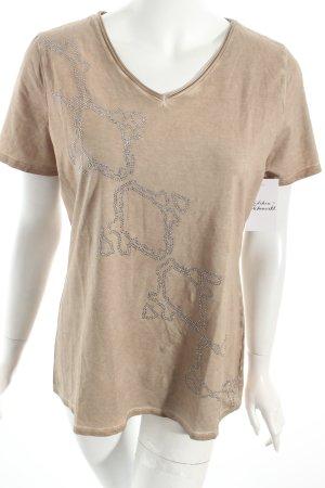 Laurèl V-Ausschnitt-Shirt sandbraun Casual-Look