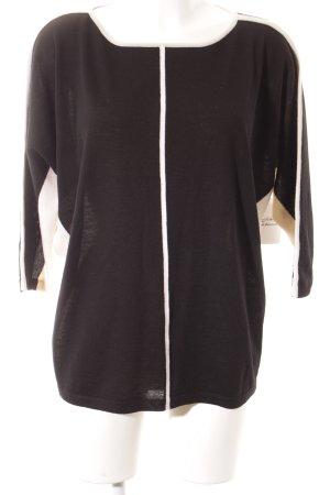 Laurèl Wollpullover schwarz-wollweiß klassischer Stil