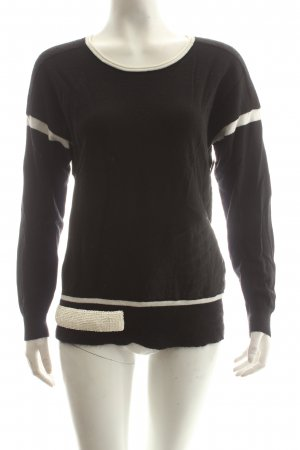Laurèl Wool Sweater white-black casual look