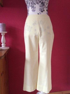 Laurèl Low-Rise Trousers pale yellow cotton