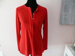 Lauren Bluse Shirt Blusenshirt Rot Langarm Knopfleiste S 36