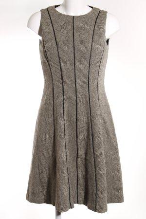 Lauren by Ralph Lauren A-Linien Kleid hellbeige-schwarz Webmuster Elegant