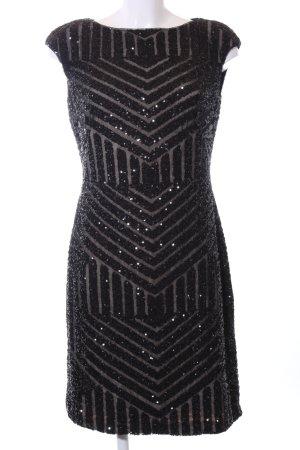 Lauren by Ralph Lauren Abendkleid schwarz grafisches Muster Elegant