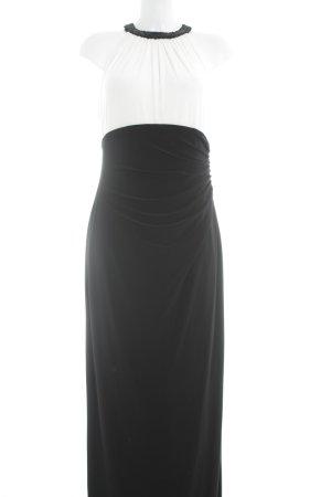 Lauren by Ralph Lauren Abendkleid wollweiß-schwarz Elegant