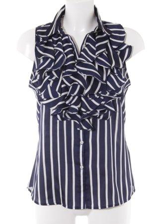 Lauren by Ralph Lauren ärmellose Bluse dunkelblau-weiß Streifenmuster