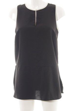 Lauren by Ralph Lauren ärmellose Bluse schwarz-weiß Casual-Look