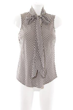 Lauren by Ralph Lauren ärmellose Bluse weiß-schwarz Streifenmuster Casual-Look