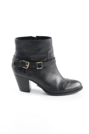 Lauren by Ralph Lauren Ankle Boots schwarz-goldfarben Elegant