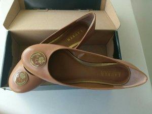 LAUREN BY RALPH LAUREN Ballerinas Damen hellbraun cognac Größe 39,5