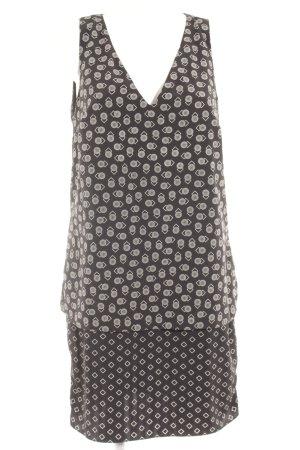 Lauren by Ralph Lauren Blusenkleid schwarz-weiß grafisches Muster