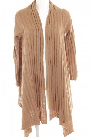 Lauren by Ralph Lauren Cardigan marrone chiaro Motivo a maglia leggera