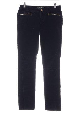 Lauren by Ralph Lauren Pantalone di velluto a coste blu scuro stile casual