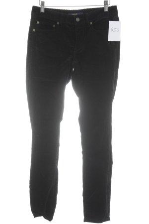 Lauren by Ralph Lauren Corduroy broek zwart simpele stijl