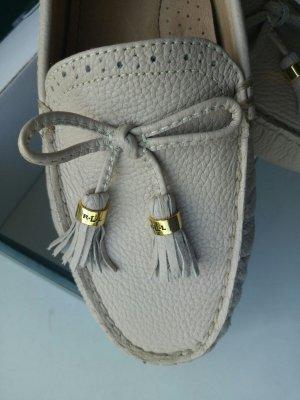 LAUREN BY RALPH LAUREN Damen Cassady White Weiß Loafer Größe 40 NEU OVP
