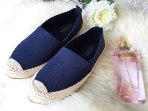 Lauren by Ralph Lauren Espadrilles Schuhe Navy Blau beige Größe