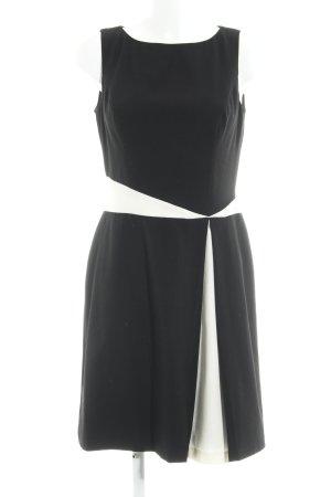 Lauren by Ralph Lauren Abito aderente nero-bianco sporco color block elegante