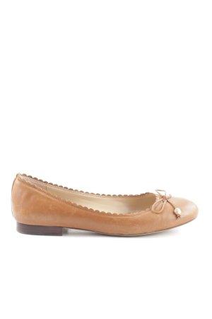 Lauren by Ralph Lauren Foldable Ballet Flats brown business style