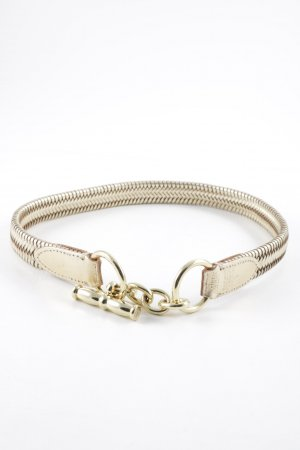 Lauren by Ralph Lauren Braided Belt gold-colored cable stitch wet-look
