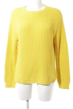 Lauren by Ralph Lauren Pull à gosses mailles jaune torsades style  décontracté d97ac3db537