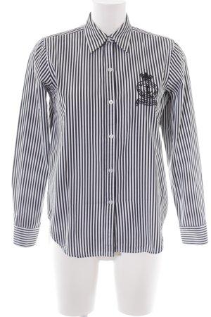Lauren by Ralph Lauren Hemd-Bluse weiß-schwarz Streifenmuster Business-Look