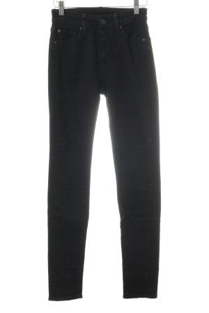 Lauren by Ralph Lauren Hoge taille jeans zwart casual uitstraling