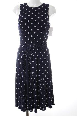 Lauren by Ralph Lauren Jerseykleid dunkelblau-weiß Punktemuster Beach-Look