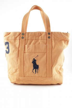 Lauren by Ralph Lauren Burlap Bag orange casual look