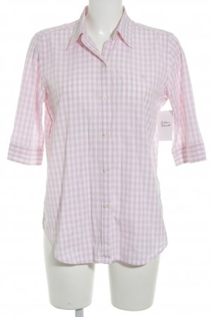 Lauren by Ralph Lauren Blouse à carreaux blanc-rose clair motif à carreaux