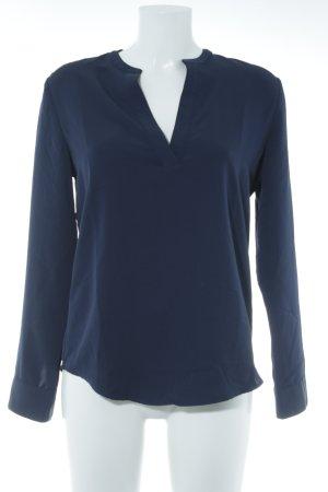 Lauren by Ralph Lauren Langarm-Bluse dunkelblau Business-Look