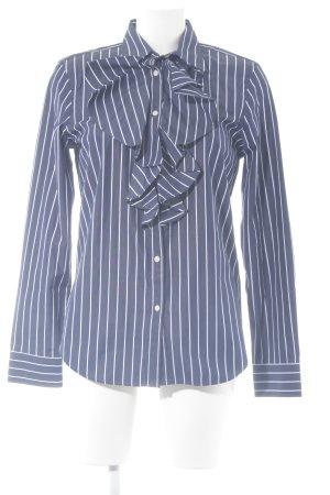 Lauren by Ralph Lauren Langarm-Bluse dunkelblau-weiß Streifenmuster Elegant