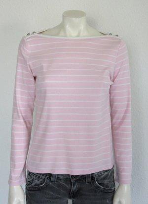 LAUREN by Ralph Lauren langarm Shirt Gr. M rosa gestreift