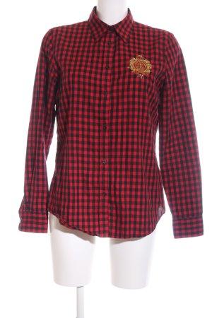 Lauren by Ralph Lauren Langarmhemd rot-schwarz Karomuster Casual-Look