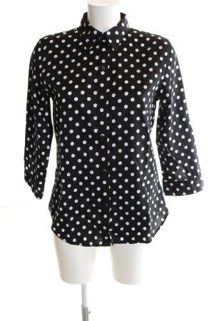 Lauren by Ralph Lauren Camicia a maniche lunghe nero-bianco motivo a pallini
