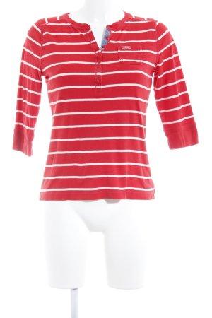 Lauren by Ralph Lauren Longshirt rot-weiß Streifenmuster