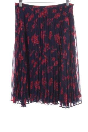Lauren by Ralph Lauren Jupe plissée noir-rouge imprimé allover