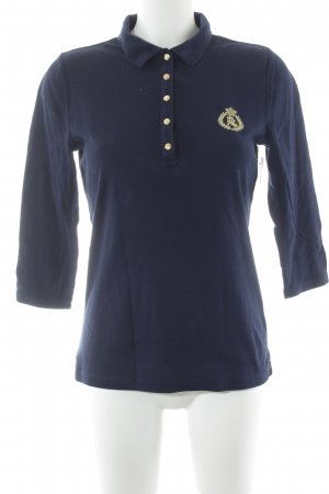 Lauren by Ralph Lauren Polo-Shirt dunkelblau-goldfarben Casual-Look