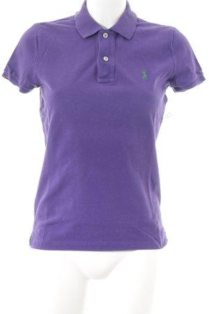 Lauren by Ralph Lauren Polo-Shirt dunkelviolett Casual-Look