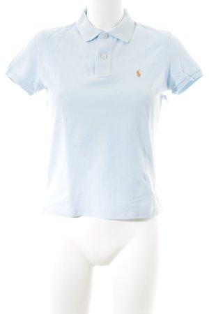 Lauren by Ralph Lauren Polo-Shirt himmelblau Casual-Look