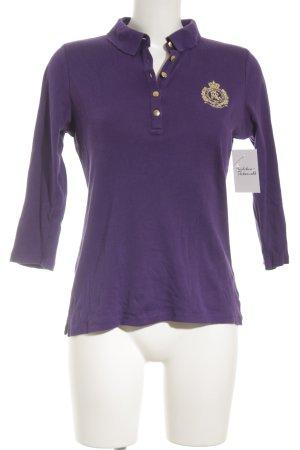 Lauren by Ralph Lauren Polo-Shirt lila-goldfarben schlichter Stil