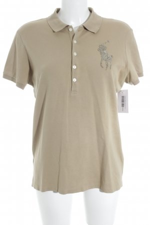 Lauren by Ralph Lauren Polo-Shirt sandbraun klassischer Stil