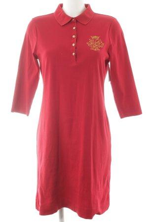 Lauren by Ralph Lauren Vestido tipo polo rojo estilo clásico