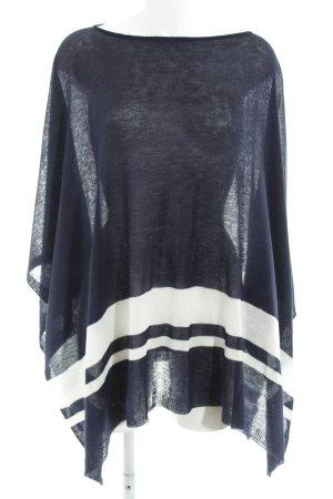 Lauren by Ralph Lauren Poncho dark blue-white striped pattern casual look